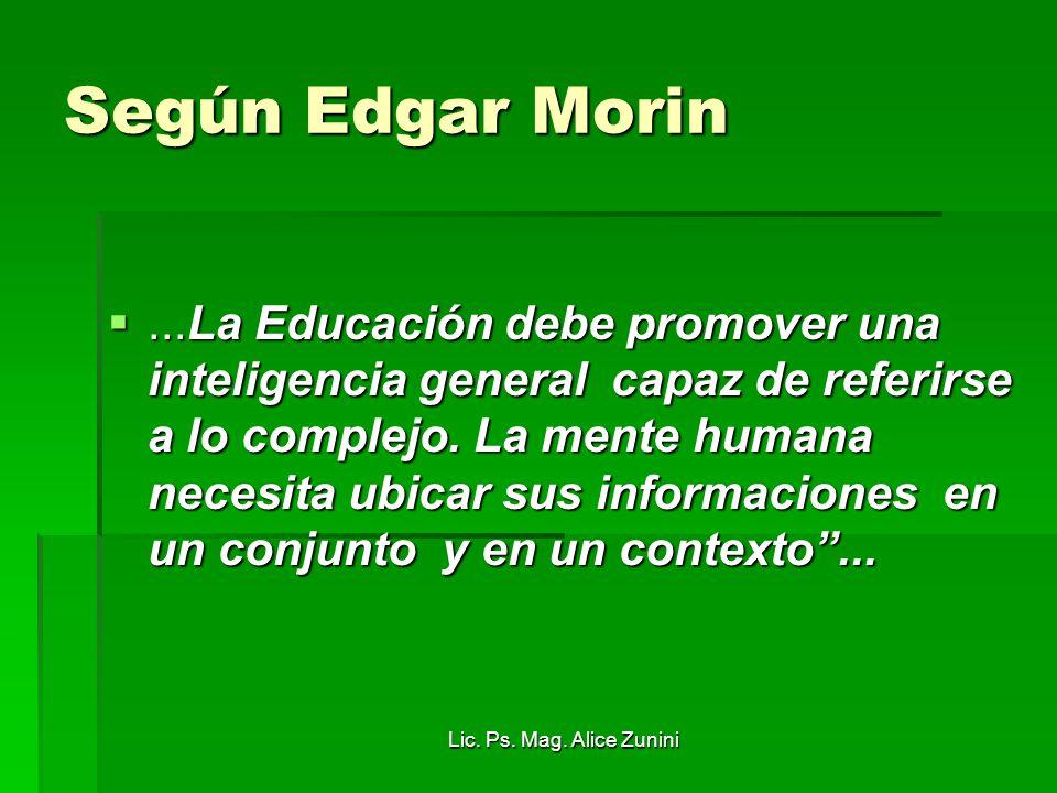 Según Edgar Morin