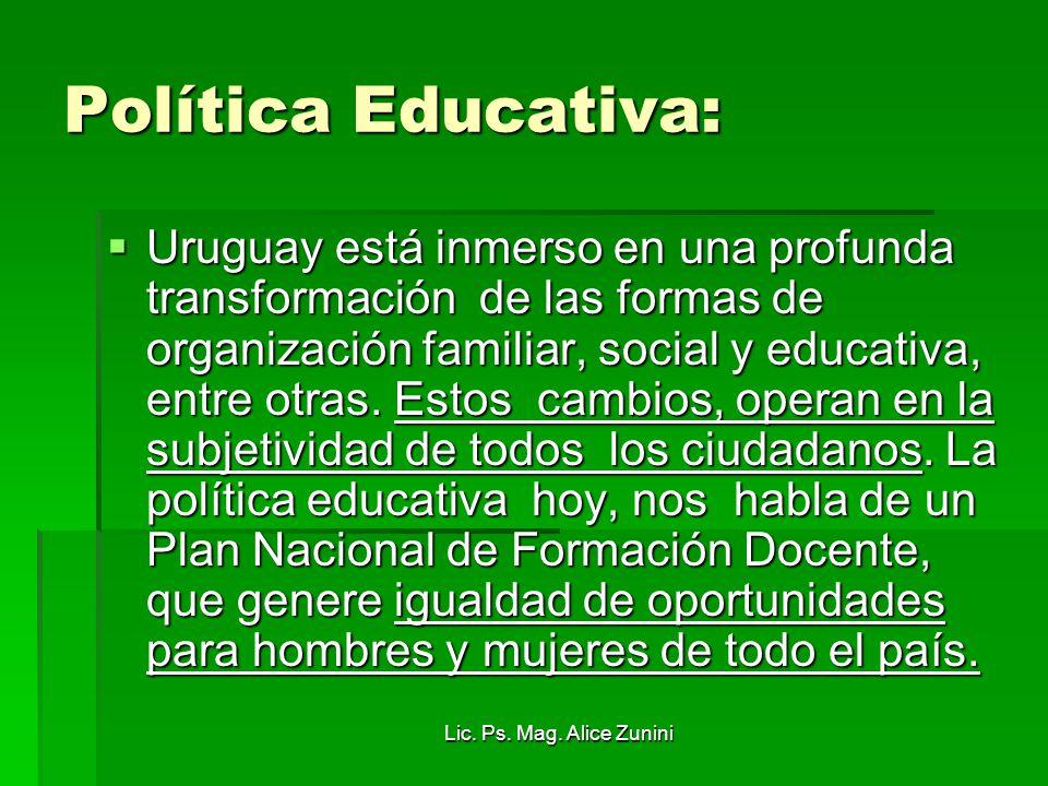 Política Educativa: