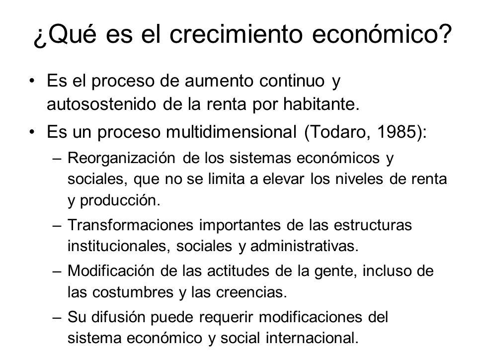 ¿Qué es el crecimiento económico