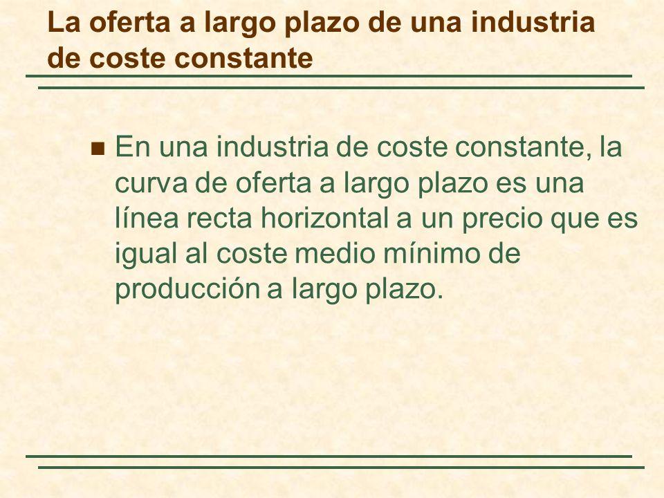 La oferta a largo plazo de una industria de coste constante