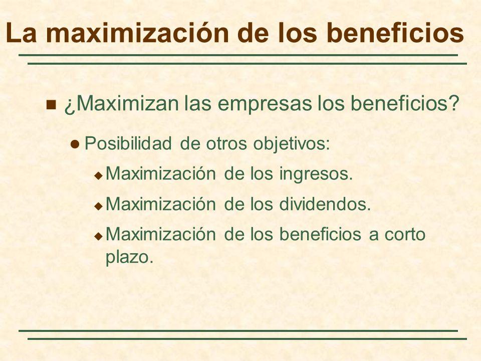 La maximización de los beneficios