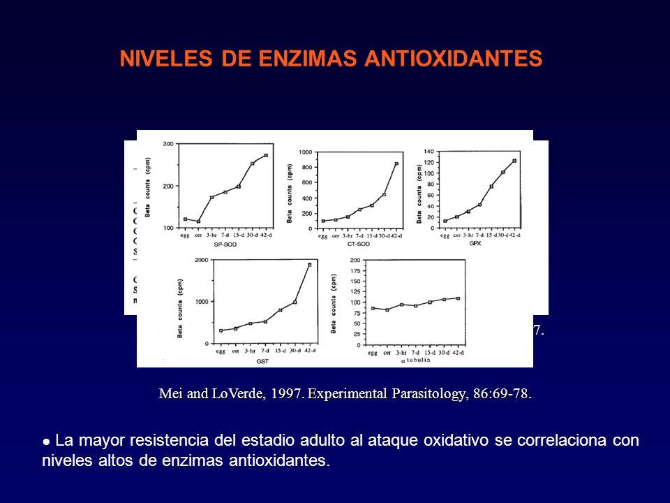NIVELES DE ENZIMAS ANTIOXIDANTES