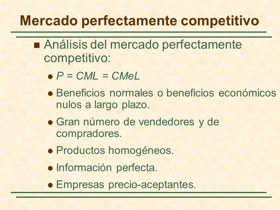 Mercado perfectamente competitivo