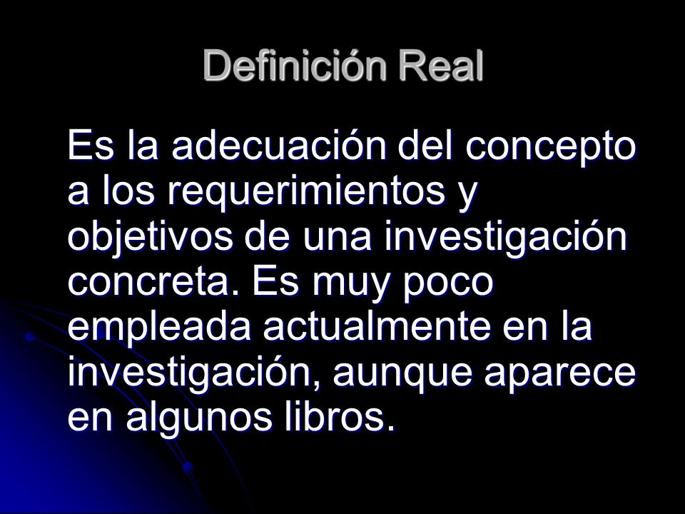 Definición Real