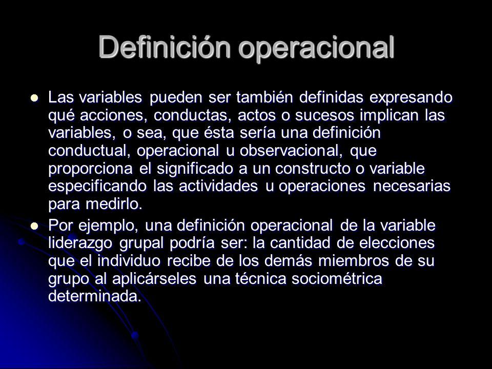 Definición operacional