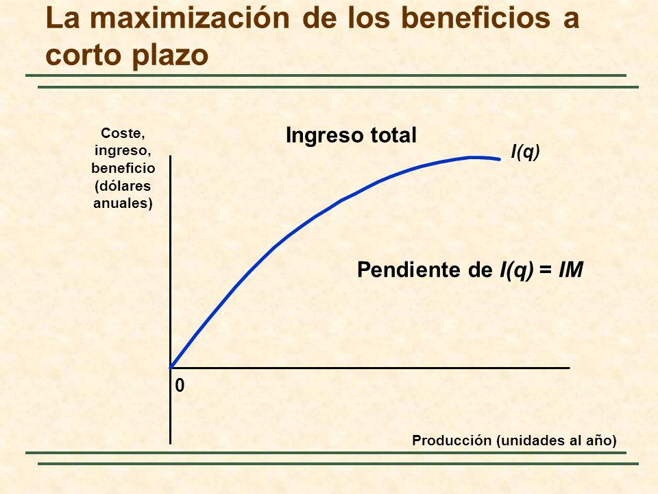 La maximización de los beneficios a corto plazo