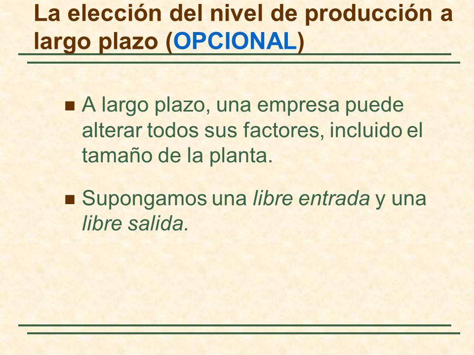 La elección del nivel de producción a largo plazo (OPCIONAL)