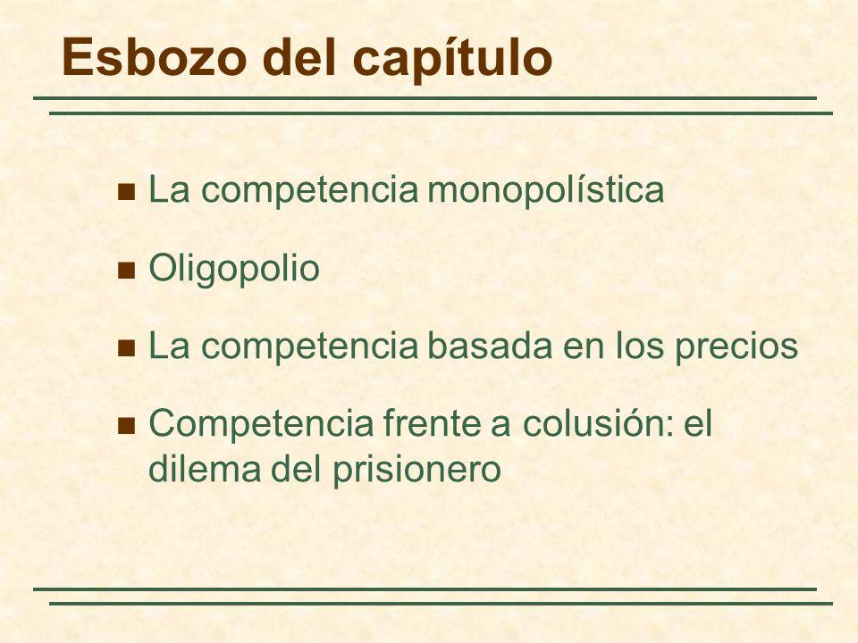 Esbozo del capítulo La competencia monopolística Oligopolio