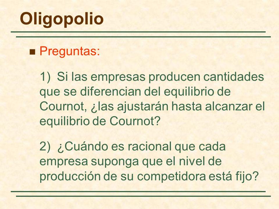 Oligopolio Preguntas: