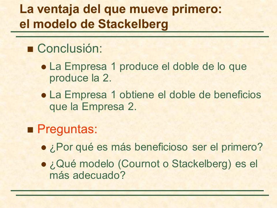 La ventaja del que mueve primero: el modelo de Stackelberg