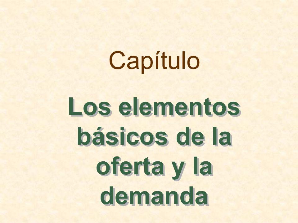 Los elementos básicos de la oferta y la demanda