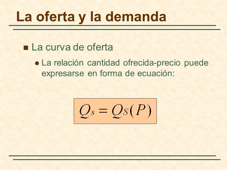 La oferta y la demanda La curva de oferta