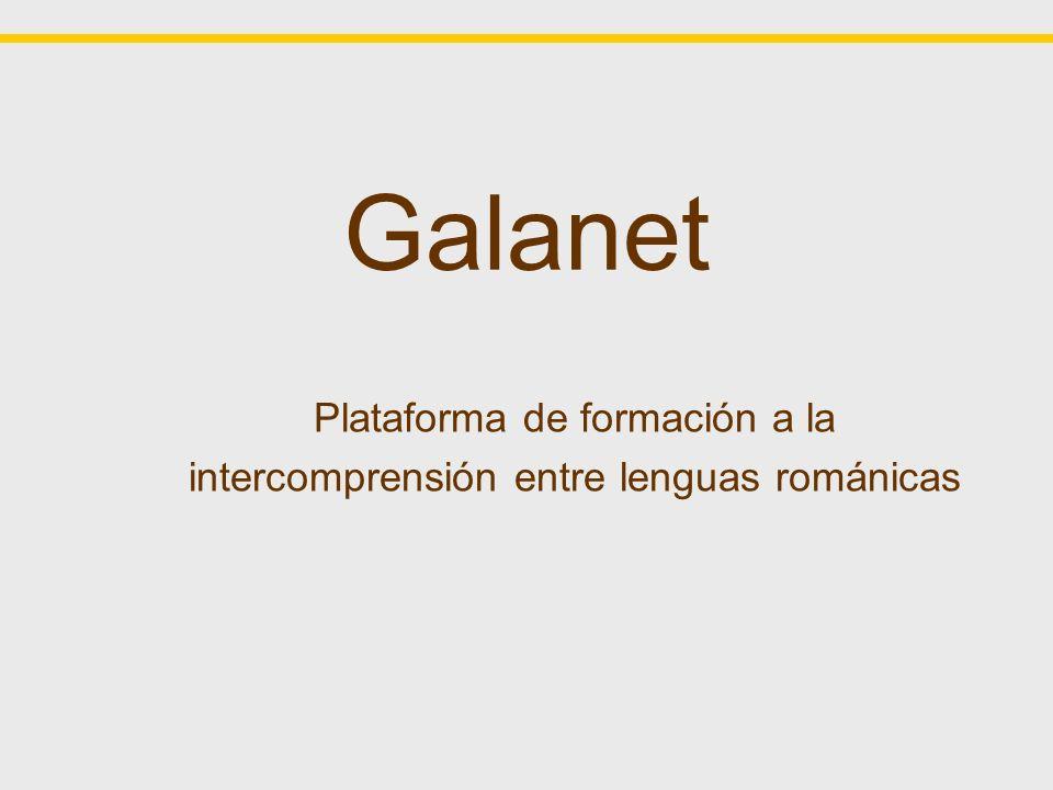 Plataforma de formación a la intercomprensión entre lenguas románicas
