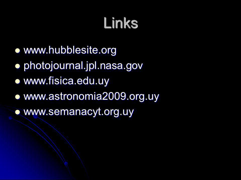 Links www.hubblesite.org photojournal.jpl.nasa.gov www.fisica.edu.uy