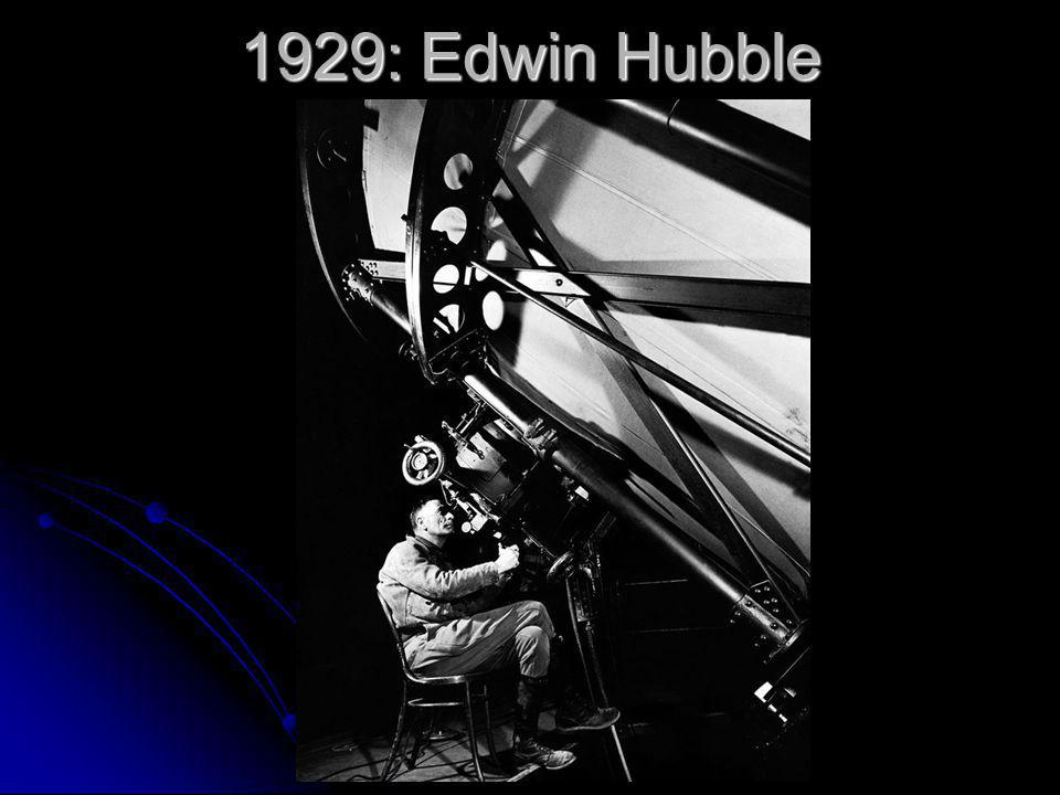 1929: Edwin Hubble