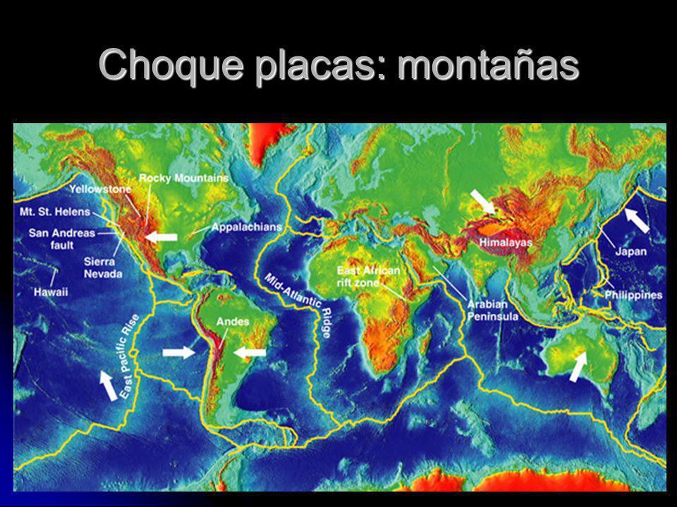 Choque placas: montañas