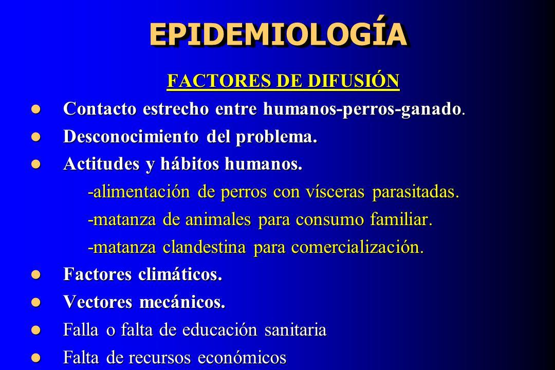 EPIDEMIOLOGÍA FACTORES DE DIFUSIÓN