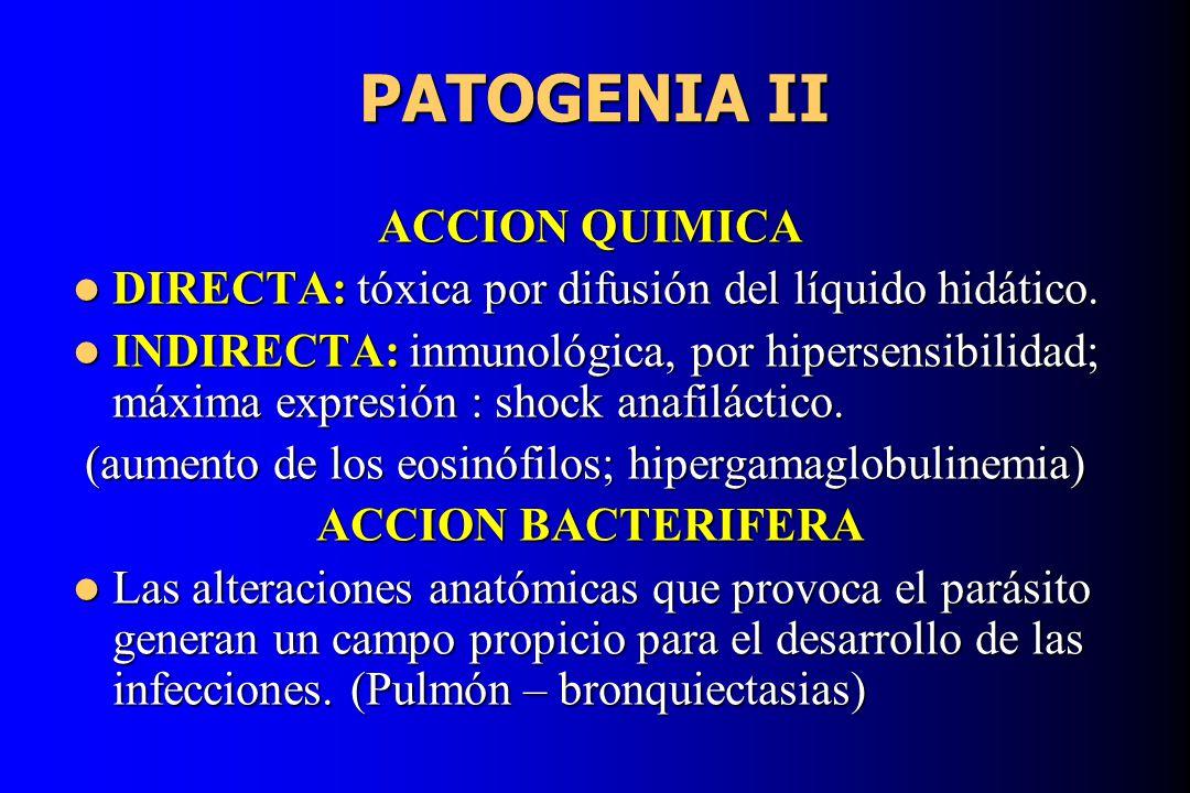 PATOGENIA II ACCION QUIMICA