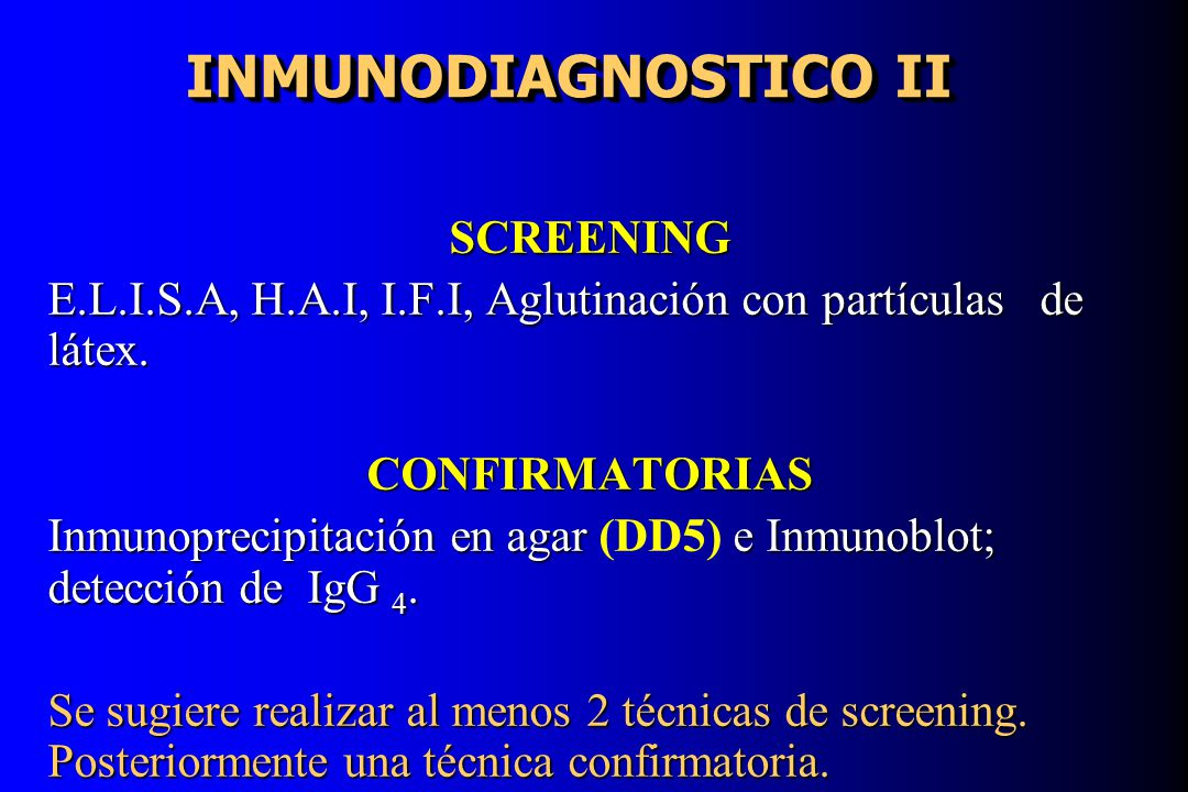 INMUNODIAGNOSTICO II SCREENING