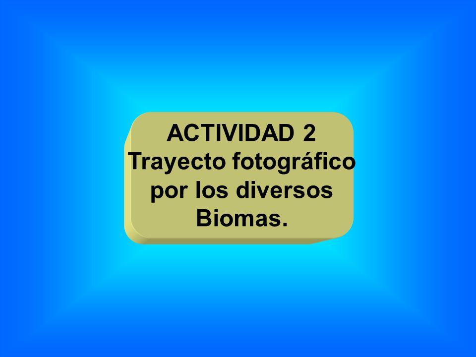 ACTIVIDAD 2 Trayecto fotográfico por los diversos Biomas.