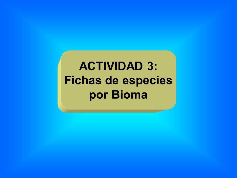 ACTIVIDAD 3: Fichas de especies por Bioma