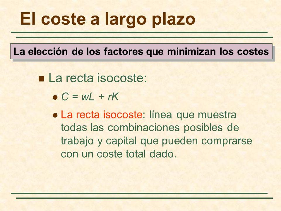La elección de los factores que minimizan los costes