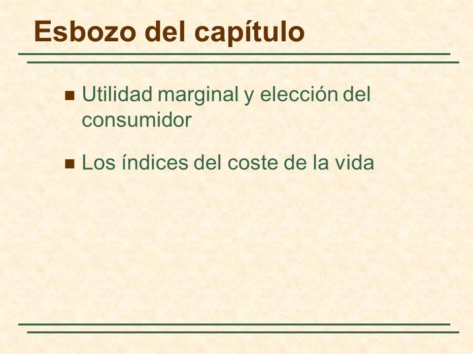 Esbozo del capítulo Utilidad marginal y elección del consumidor