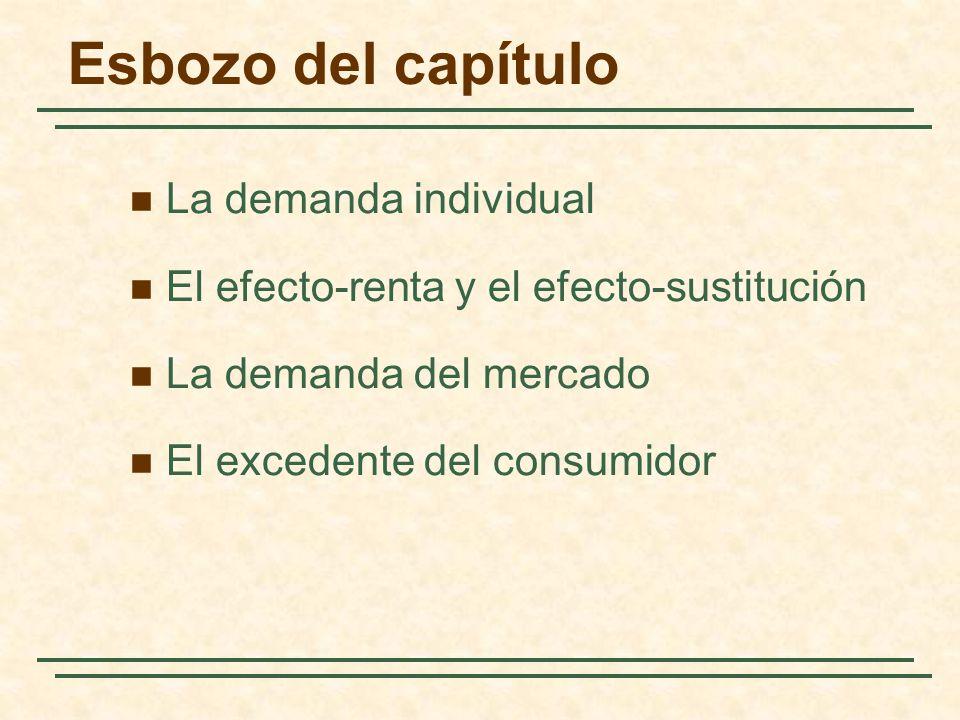 Esbozo del capítulo La demanda individual