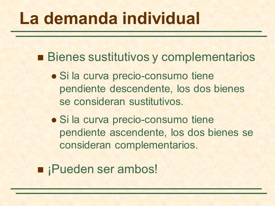 La demanda individual Bienes sustitutivos y complementarios