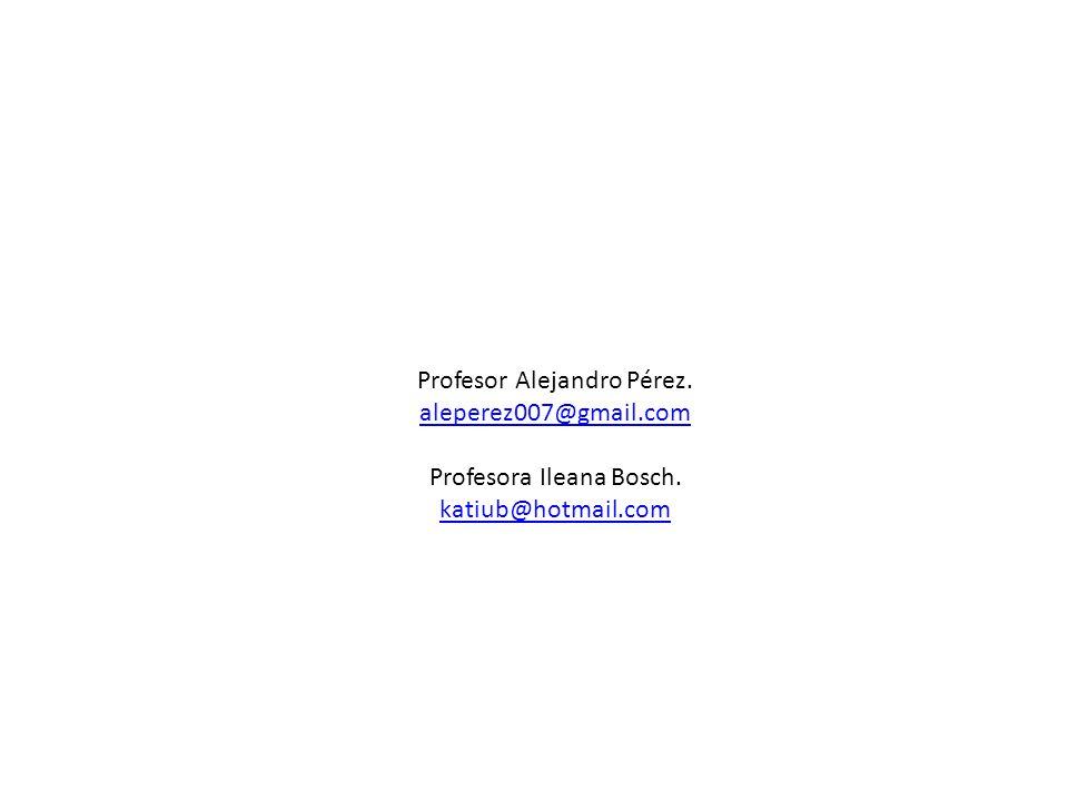 Profesor Alejandro Pérez. aleperez007@gmail.com