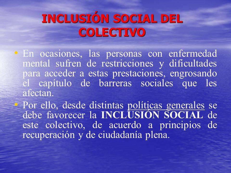INCLUSIÓN SOCIAL DEL COLECTIVO