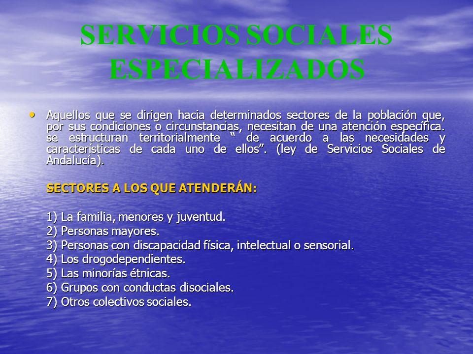 SERVICIOS SOCIALES ESPECIALIZADOS