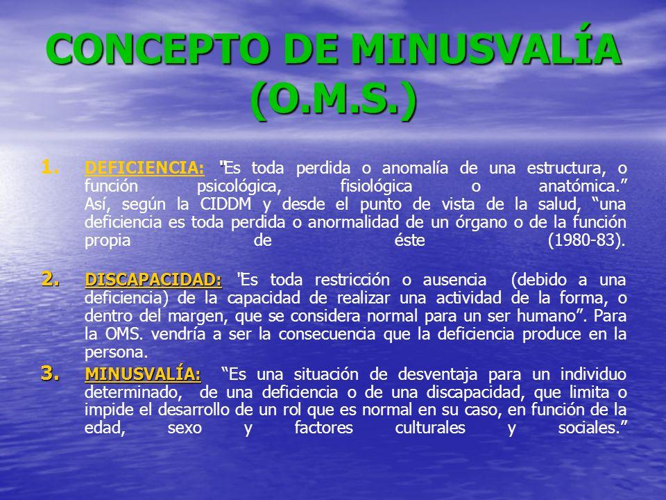 CONCEPTO DE MINUSVALÍA (O.M.S.)