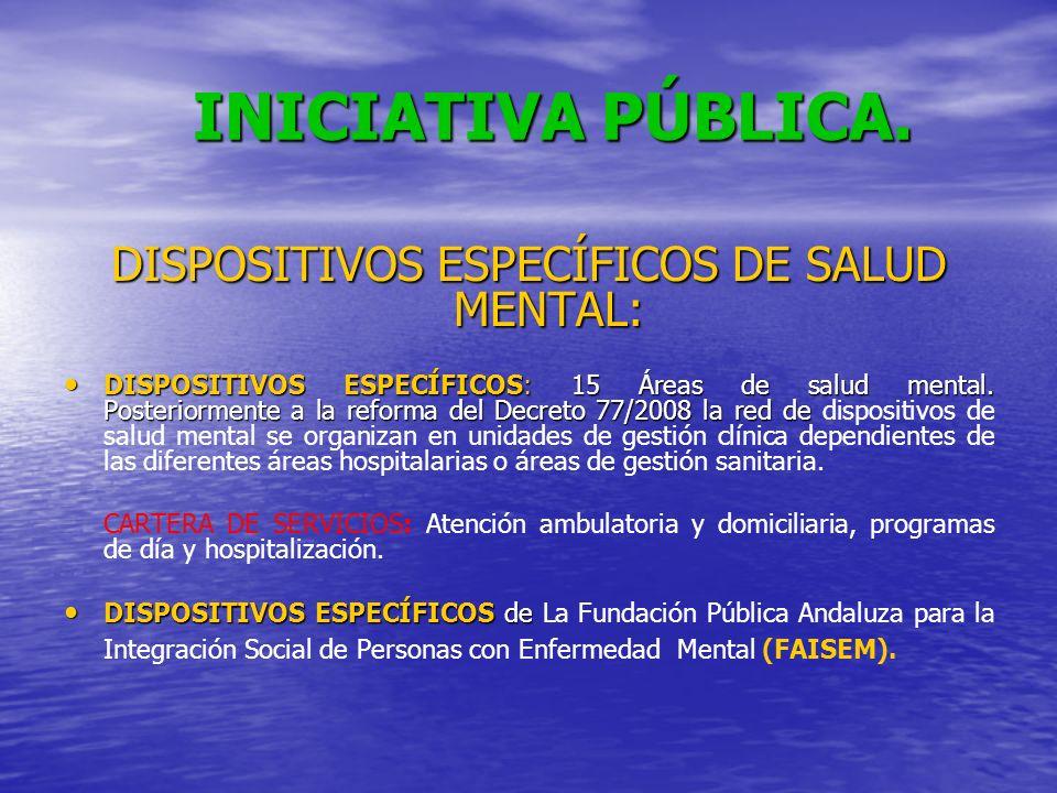 DISPOSITIVOS ESPECÍFICOS DE SALUD MENTAL: