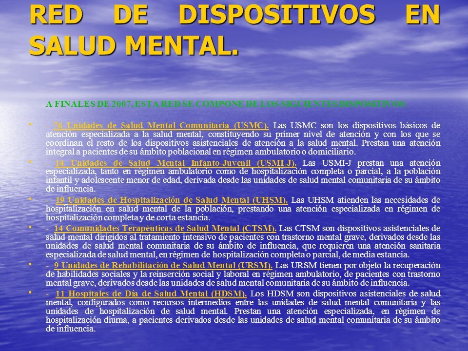 RED DE DISPOSITIVOS EN SALUD MENTAL.