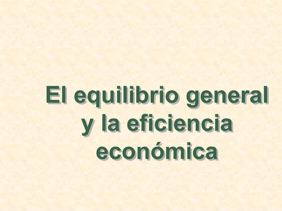 El equilibrio general y la eficiencia económica