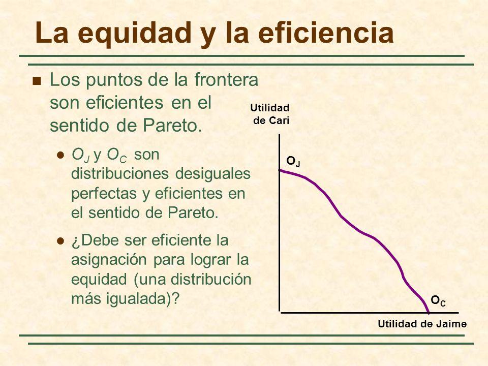 La equidad y la eficiencia