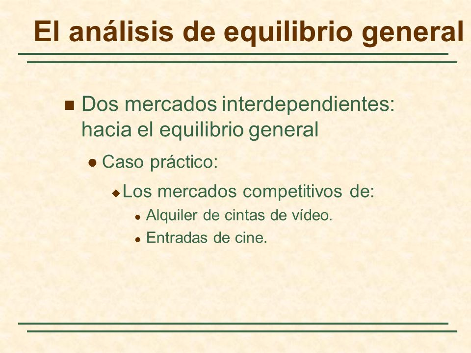 El análisis de equilibrio general