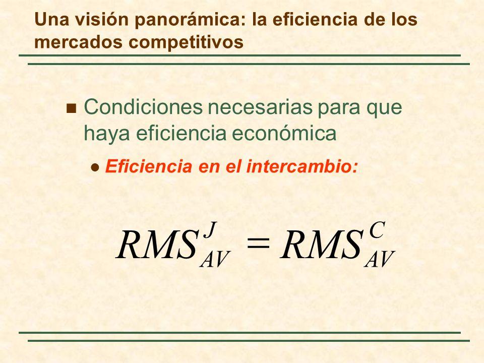 Una visión panorámica: la eficiencia de los mercados competitivos