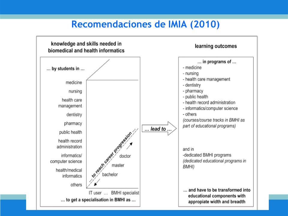 Recomendaciones de IMIA (2010)
