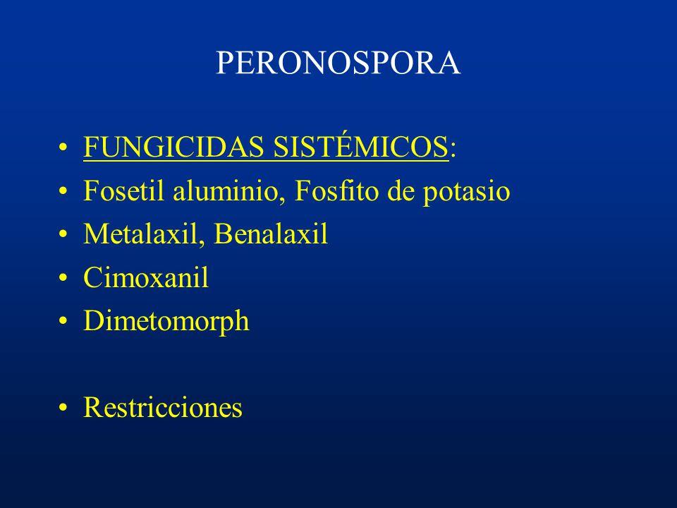 PERONOSPORA FUNGICIDAS SISTÉMICOS: