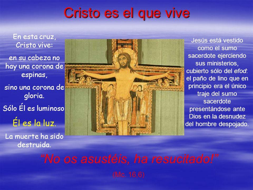 Cristo es el que vive No os asustéis, ha resucitado! Él es la luz.