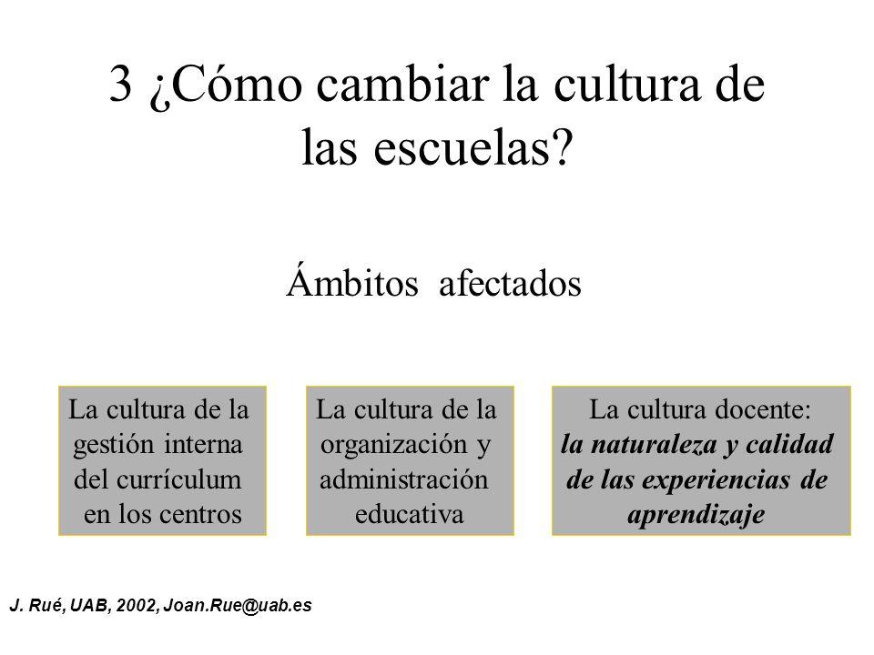 3 ¿Cómo cambiar la cultura de las escuelas
