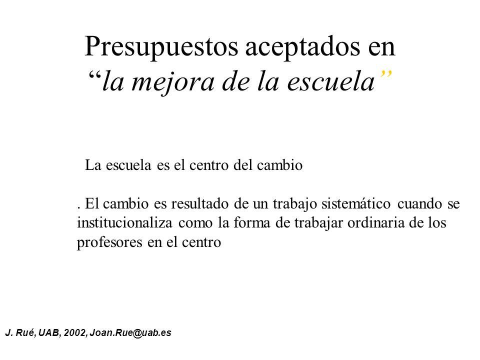 La Autorregulación de los equipos docentes Joan Rué, UAB
