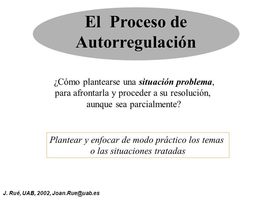 El Proceso de Autorregulación