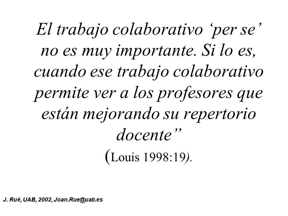 El trabajo colaborativo 'per se' no es muy importante