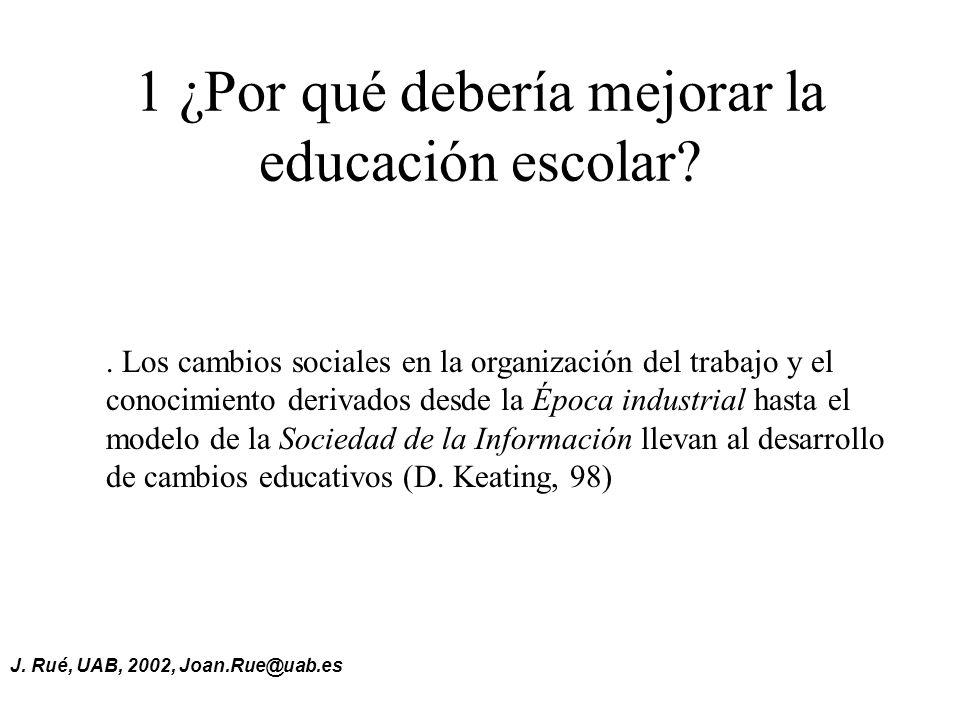 1 ¿Por qué debería mejorar la educación escolar