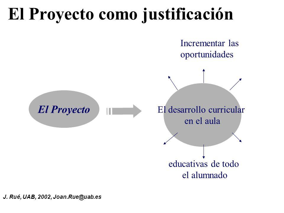 El Proyecto como justificación