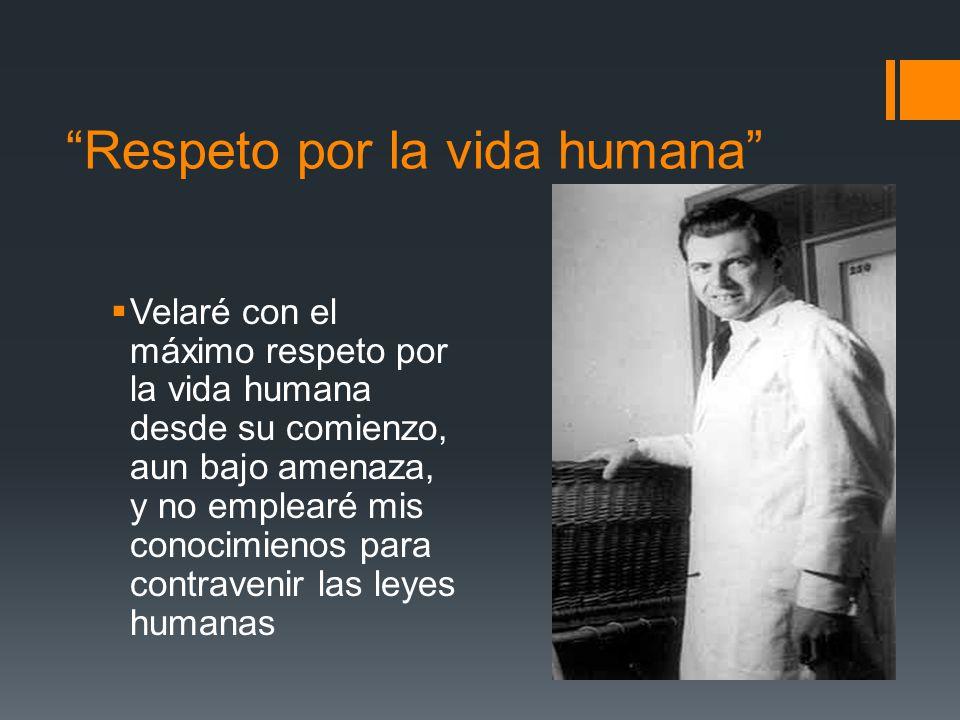 Respeto por la vida humana