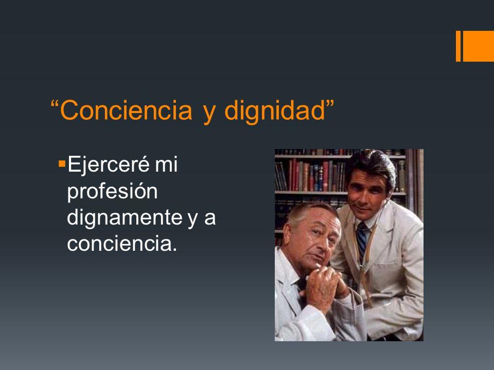 Conciencia y dignidad